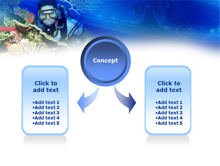 Underwater Diving PowerPoint Template, Slide 4, 00957, Nature & Environment — PoweredTemplate.com