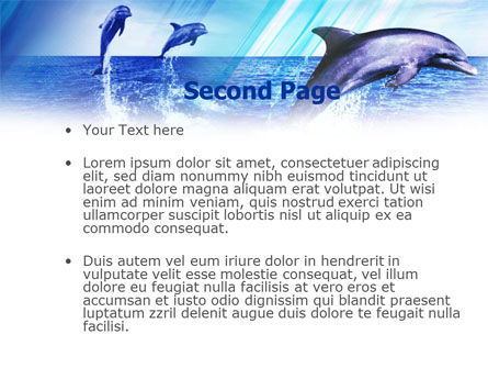 Dolphins PowerPoint Template, Slide 2, 00958, Animals and Pets — PoweredTemplate.com