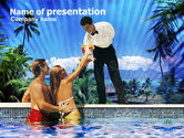 Careers/Industry: Pool Bar PowerPoint Template #00959