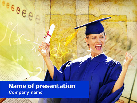 Graduate Student PowerPoint Template, 00960, Education & Training — PoweredTemplate.com