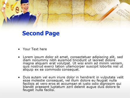 Graduate Student PowerPoint Template, Slide 2, 00960, Education & Training — PoweredTemplate.com