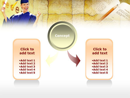 Graduate Student PowerPoint Template, Slide 4, 00960, Education & Training — PoweredTemplate.com