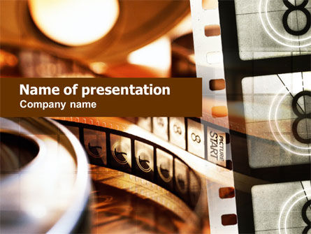 Art & Entertainment: Movie Reel PowerPoint Template #00961