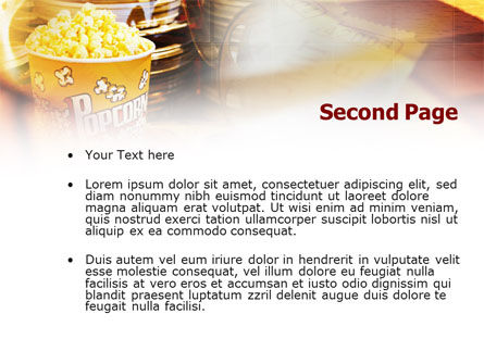 Popcorn PowerPoint Template Slide 2