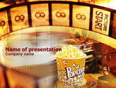 Art & Entertainment: Popcorn PowerPoint Template #00962