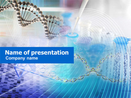 Medical: Genome Research PowerPoint Template #00966