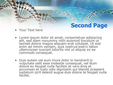 Genome Research PowerPoint Template, Slide 2, 00966, Medical — PoweredTemplate.com
