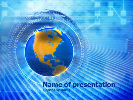 Global: Information World PowerPoint Template #00967