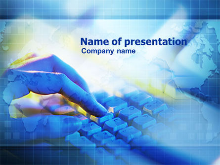 Computer Typing PowerPoint Template