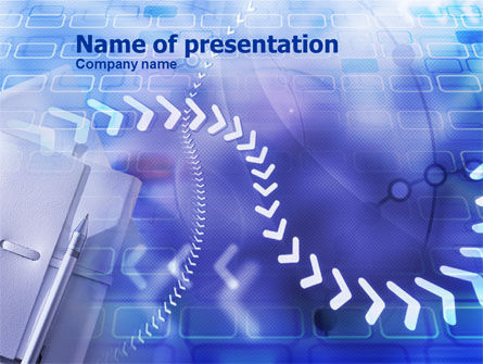 Abstract/Textures: Memorandum PowerPoint Template #00970