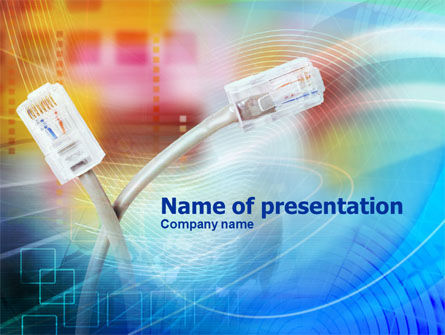 Telecommunication: Patch Cord PowerPoint Template #00971
