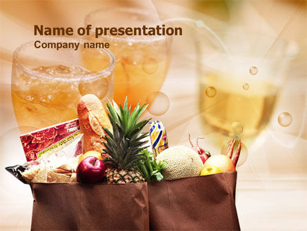 Grocery Bag PowerPoint Template, 00972, Food & Beverage — PoweredTemplate.com