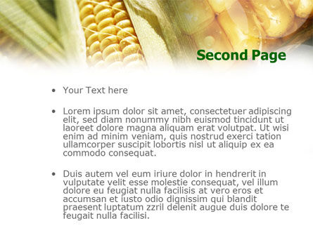 Maize PowerPoint Template, Slide 2, 00973, Food & Beverage — PoweredTemplate.com