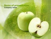 Food & Beverage: Ripe Apple PowerPoint Template #00974