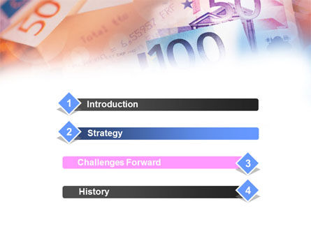 Euro Currency PowerPoint Template, Slide 3, 00977, Financial/Accounting — PoweredTemplate.com