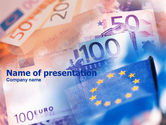 Financial/Accounting: Euro Currency PowerPoint Template #00977