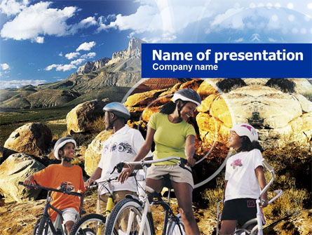 Mountain Cycling PowerPoint Template, 00980, Sports — PoweredTemplate.com