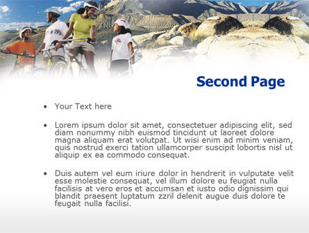 Mountain Cycling PowerPoint Template, Slide 2, 00980, Sports — PoweredTemplate.com