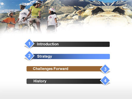 Mountain Cycling PowerPoint Template, Slide 3, 00980, Sports — PoweredTemplate.com