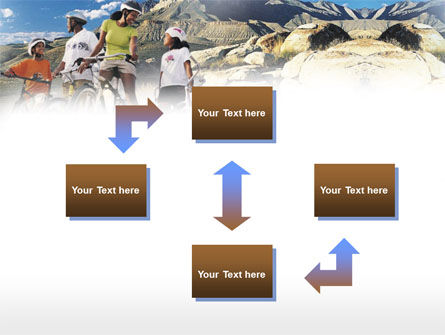 Mountain Cycling PowerPoint Template, Slide 4, 00980, Sports — PoweredTemplate.com