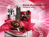 Holiday/Special Occasion: 파워포인트 템플릿 - 선물 포장 #00981