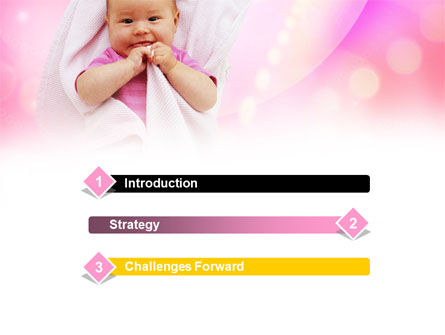 Wrapped Baby PowerPoint Template, Slide 3, 00982, People — PoweredTemplate.com