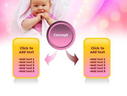 Wrapped Baby PowerPoint Template, Slide 4, 00982, People — PoweredTemplate.com