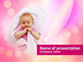 People: Wrapped Baby PowerPoint Template #00982