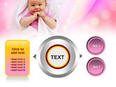 Wrapped Baby PowerPoint Template#12