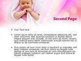 Wrapped Baby PowerPoint Template#2