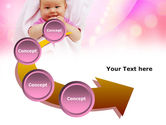 Wrapped Baby PowerPoint Template#6