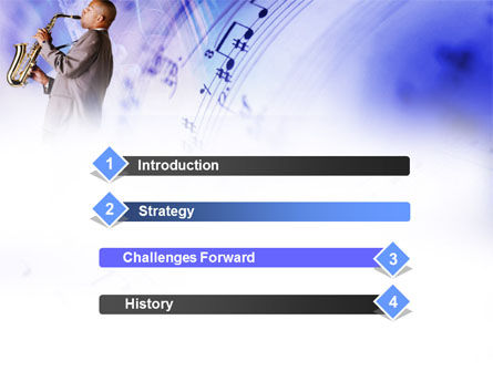Saxophone PowerPoint Template Slide 3