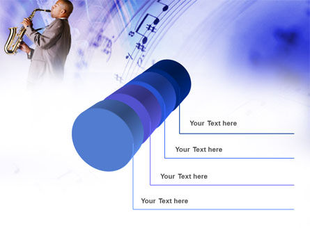Saxophone PowerPoint Template Slide 7