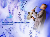 Art & Entertainment: Saxophone PowerPoint Template #00983