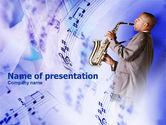Art & Entertainment: Plantilla de PowerPoint - saxofón #00983