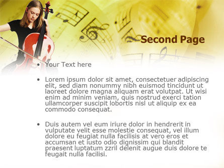 Cello PowerPoint Template Slide 2