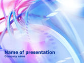 Telecommunication: Pink - Blue Colored Cables PowerPoint Template #00985