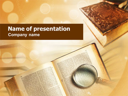 Study of Books PowerPoint Template