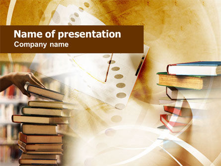 Book Piles PowerPoint Template, 00987, Education & Training — PoweredTemplate.com