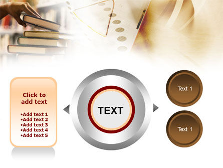 Book Piles PowerPoint Template Slide 12