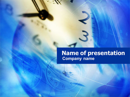 Business Concepts: Blue Klokthema PowerPoint Template #00990