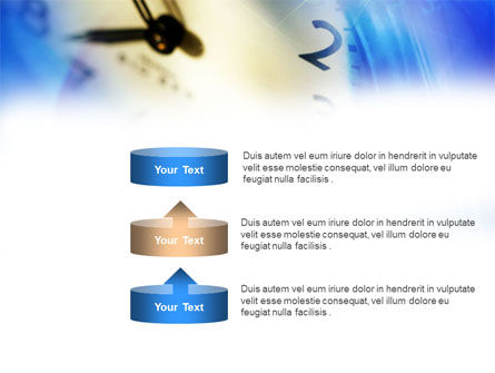 Blue Clock Theme PowerPoint Template Slide 10