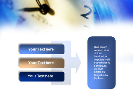 Blue Clock Theme PowerPoint Template Slide 11