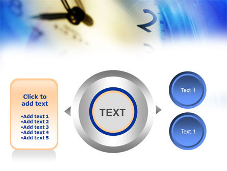 Blue Clock Theme PowerPoint Template Slide 12