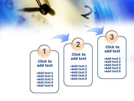 Blue Clock Theme PowerPoint Template Slide 14