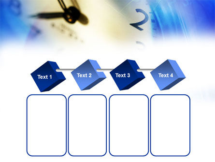 Blue Clock Theme PowerPoint Template Slide 18