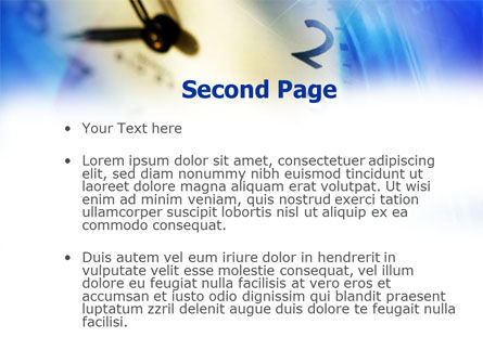 Blue Clock Theme PowerPoint Template, Slide 2, 00990, Business Concepts — PoweredTemplate.com