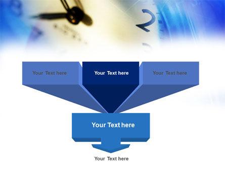Blue Clock Theme PowerPoint Template, Slide 3, 00990, Business Concepts — PoweredTemplate.com