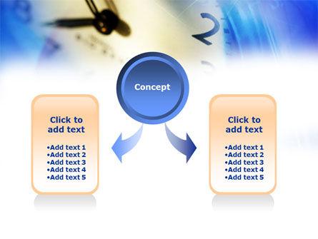 Blue Clock Theme PowerPoint Template, Slide 4, 00990, Business Concepts — PoweredTemplate.com