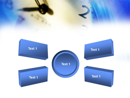 Blue Clock Theme PowerPoint Template Slide 6